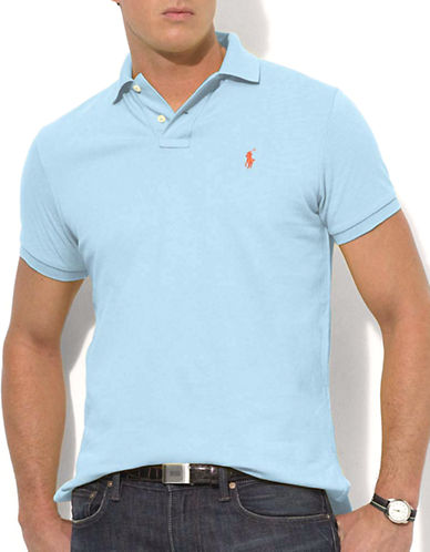 Polo Ralph Lauren Classic Fit Short Sleeved Cotton Mesh Polo-CHATHAM BLUE-Small