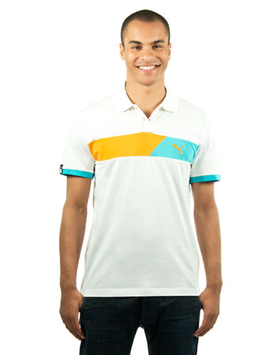 Puma Colourblock Polo white XLarge