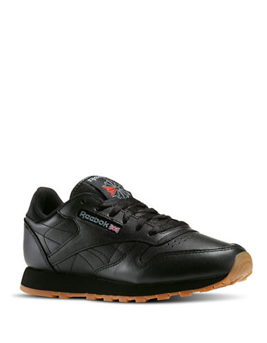 Reebok Classic Leather Sneakers-BLACK-7 88272052_BLACK_7