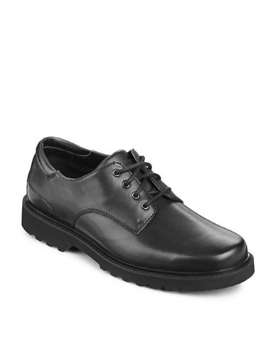 Rockport Northfield Waterproof Derby Shoes-BLACK-7W