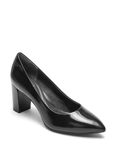 Rockport Violina Leather Pump-BLACK-7.5