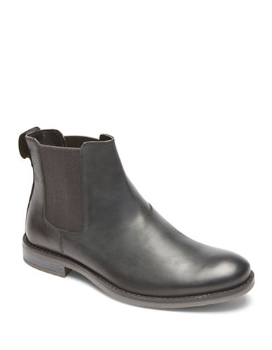 Rockport Wynstin Leather Chelsea Boots-BLACK-8.5