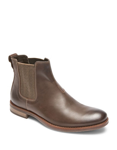 Rockport Wynstin Leather Chelsea Boots-BROWN-13