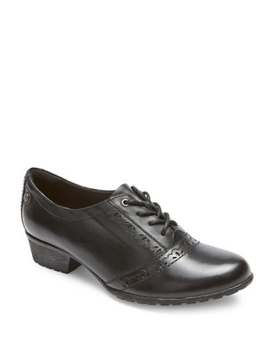 Rockport Cobb Hill Gratasha Leather Oxfords-BLACK-8.5