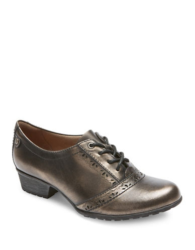 Rockport Cobb Hill Gratasha Leather Oxfords-PEWTER-7