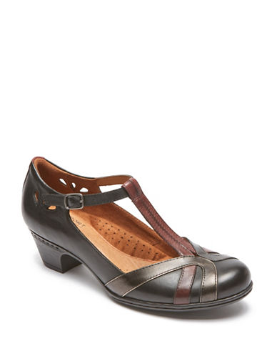 Rockport Cobb Hill Angelina Leather Pumps-BLACK MULTI-8