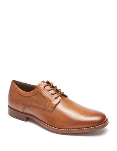 Rockport Style Purpose Leather Oxfords-BEIGE-7D
