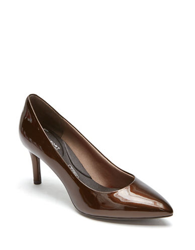 Rockport Plan Patent Leather Pumps-BRONZE-8.5