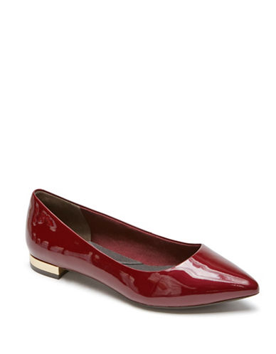 Rockport Adelyn Leather Ballet Flats-MERLOT RED-6.5