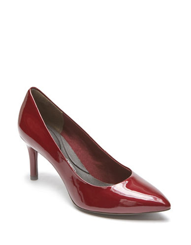 Rockport Plan Patent Leather Pumps-MERLOT RED-9.5