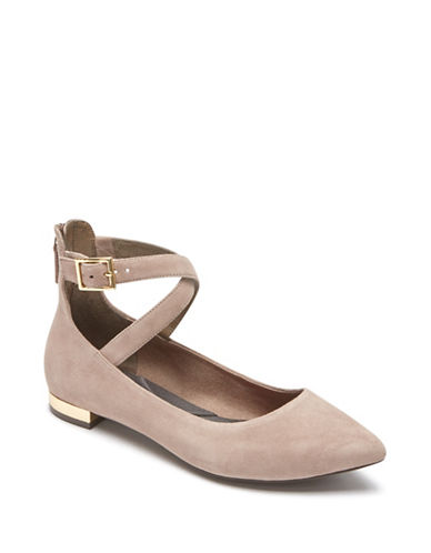 Rockport Adelyn Suede Ballet Flats-GREY-6.5