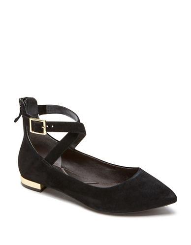 Rockport Adelyn Suede Ballet Flats-BLACK SUEDE-10