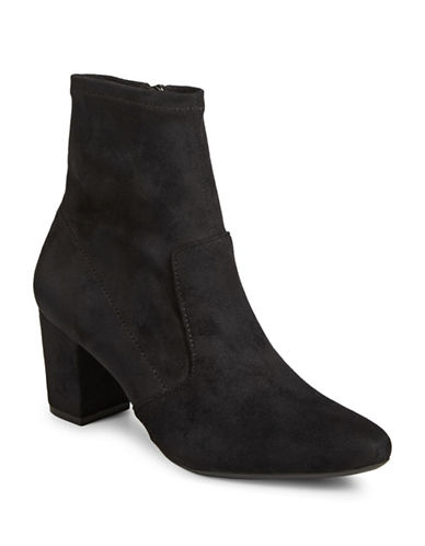 Rockport Gail Stretch Booties-BLACK MICRO-8.5