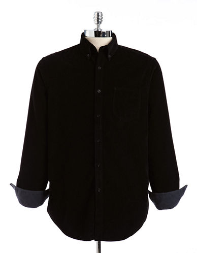 Black brown 1826 ButtonDown Cotton Flannel Shirt black Large