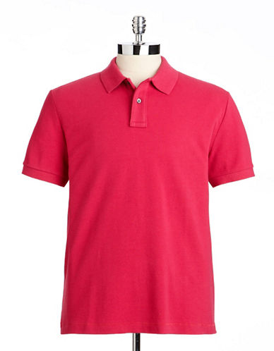 Black brown 1826 Classic Fit Cotton Contrast Pique Polo cadillac pink Large