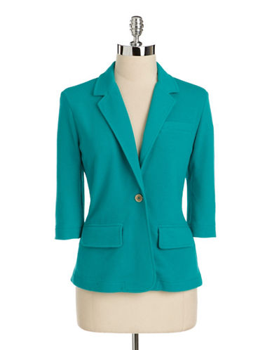 Lord  taylor Plus Size Pique Knit Blazer green 3X