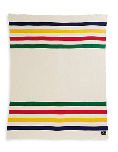 HudsonS Bay Company Luxe Cotton Knit Throw-MULTI STRIPE-One Size
