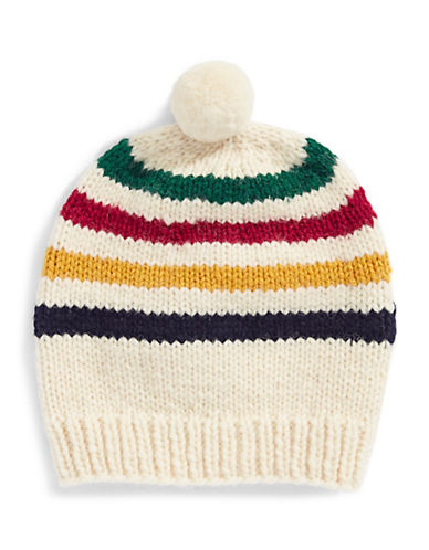 HudsonS Bay Company Hand Knit Wool Toque-MULTISTRIPE-One Size