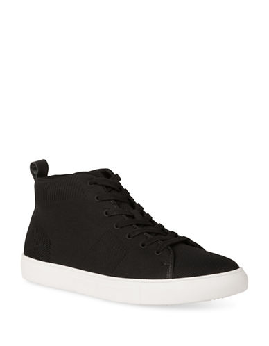 Kenneth Cole Reaction Lace-Up High-Top Sneakers-BLACK-10.5
