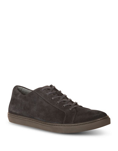 Kenneth Cole Reaction Kam Suede Low Top Sneakers-NAVY-8.5