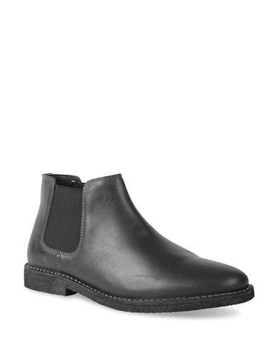 Kenneth Cole Reaction Casual Leather Chelsea Boots-BLACK-9.5