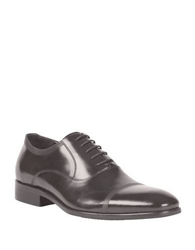 Kenneth Cole Reaction Stacked Heel Oxfords-GREY-7