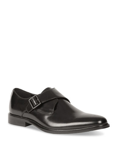 Kenneth Cole Reaction Single Monk Strap Shoes-BLACK-11