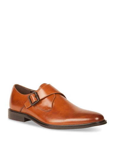 Kenneth Cole Reaction Single Monk Strap Shoes-BROWN-8.5