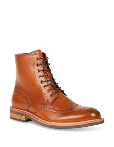Kenneth Cole New York Leather Oxford Fashion Boots-BROWN-11