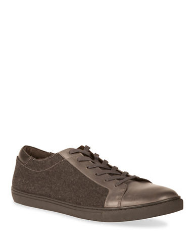 Kenneth Cole New York Round Toe Low-Top Sneakers-GREY-8