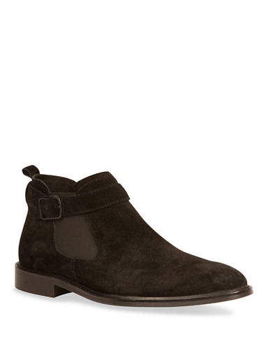 Kenneth Cole New York Sum-Times Suede Chelsea Boots-BLACK-10