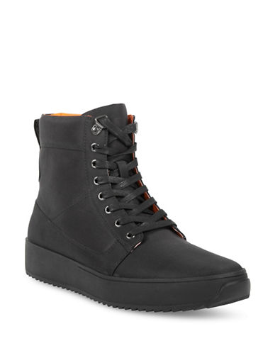 Kenneth Cole New York Lace-Up Sneaker Boots-BLACK-10.5