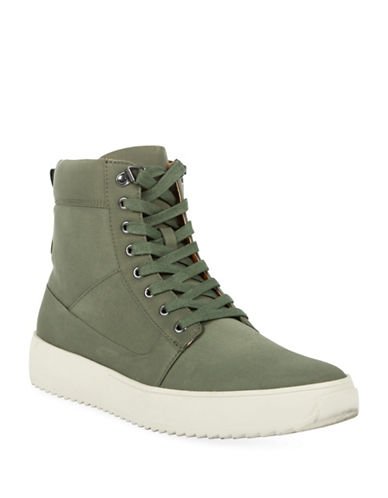 Kenneth Cole New York Lace-Up Sneaker Boots-GREEN-10.5