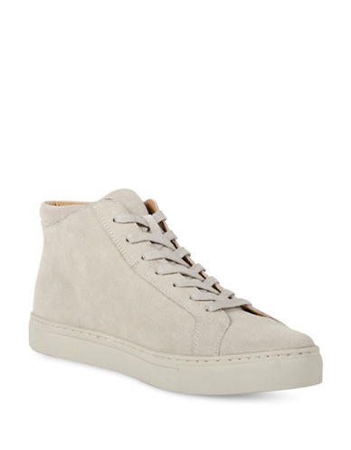 Kenneth Cole Reaction Round Toe Suede High-Top Sneakers-BEIGE-11