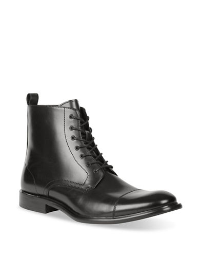 Kenneth Cole New York Military Dress Boots-BLACK-10.5