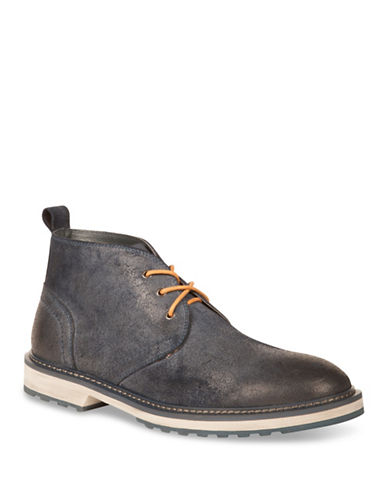 Kenneth Cole New York Leather Chukka Boots-NAVY-7.5