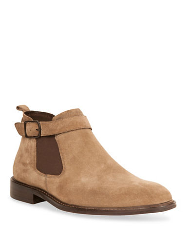 Kenneth Cole New York Sum-Times Suede Chelsea Boots-BEIGE-10.5