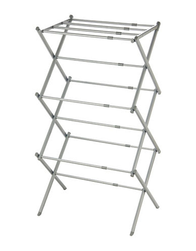 Essential Needs 3-Tier Expandable Clothes Drying Rack-GREY-One Size