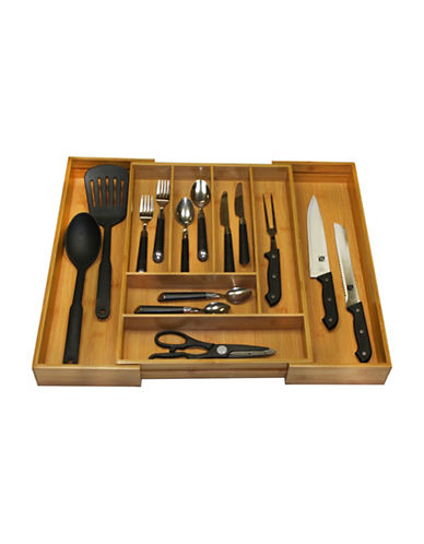 Essential Needs Bamboo Expandable Cutlery Tray-BAMBOO-One Size