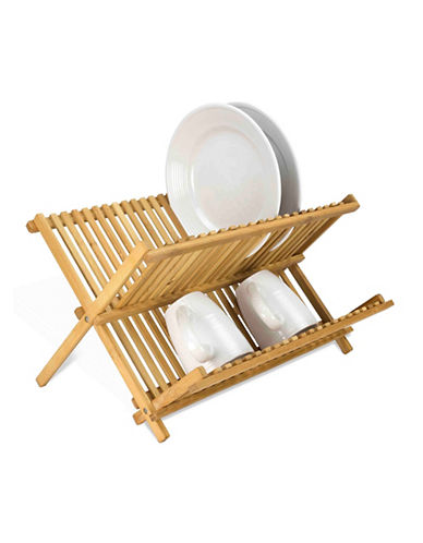 Essential Needs Bamboo Folding Dish Rack-BAMBOO-One Size