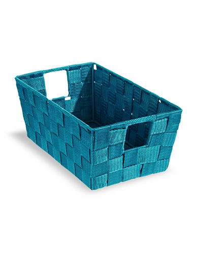 Distinctly Home 11-Inch Teal Woven Storage Box-TEAL-Small