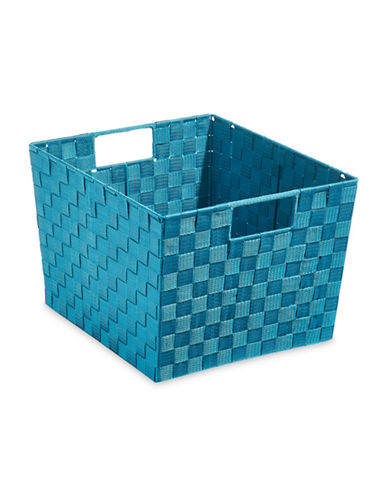 Distinctly Home Extra-Large Woven Bin-BLUE-Large