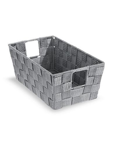 Distinctly Home 11-Inch Woven Storage Box-GREY-Small