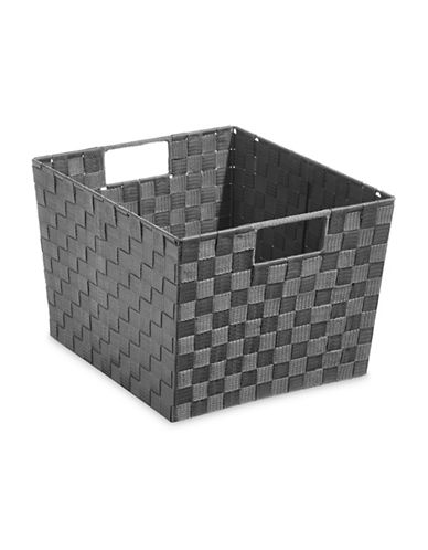 Distinctly Home Extra-Large Woven Bin-GREY-Large