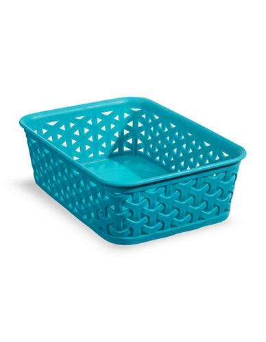 Distinctly Home 8-Inch Plastic Storage Box-BLUE-Small
