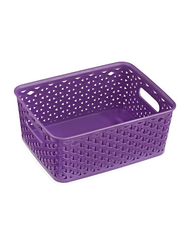 Distinctly Home Medium Plastic Bin-PURPLE-Medium