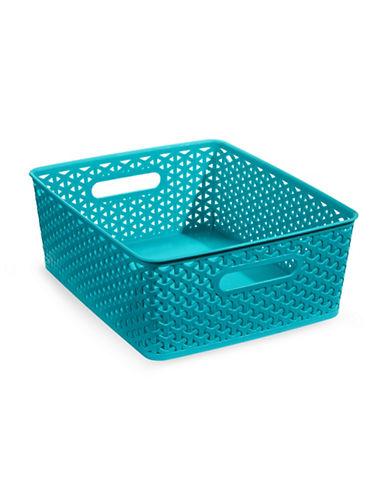 Distinctly Home 10-Inch Large Plastic Storage Box-BLUE-Large