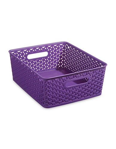 Distinctly Home Large Plastic Bin-PURPLE-Large