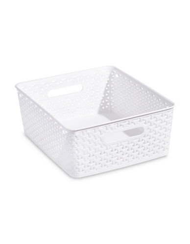 Distinctly Home Large Plastic Bin-WHITE-Large