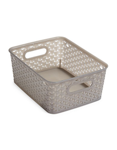 Distinctly Home Medium Bin-GREY-One Size